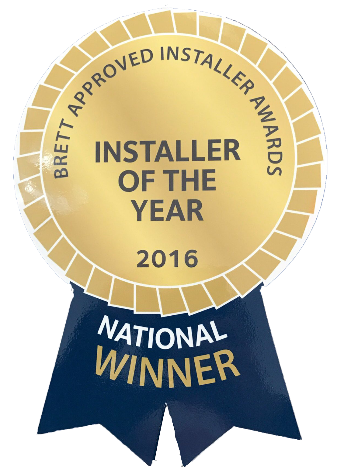Brett Approved Installer Awards 2016 Winner